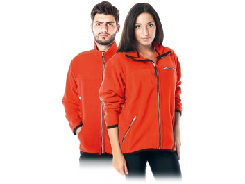 PROTECTIVE FLEECE JACKET - orange
