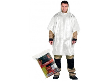 PROTECTIVE RAINPROOF PONCHO - balts