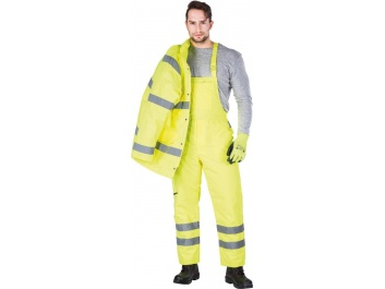 PROTECTIVE INSULATED BIB-PANTS - dzeltens