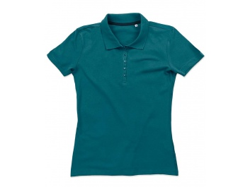 SHORT SLEEVE POLO SHIRT FOR WOMEN - zils klusais okeāns