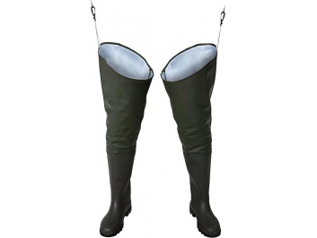 WATERPROOF THIGH WADERS STANDARD - zaļš