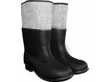 PVC BOOTS WITH FLEECE LINING - melns