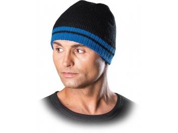 PROTECTIVE INSULATED HAT - melns un zils