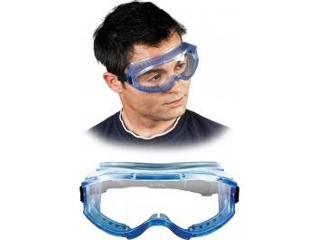 SAFETY GOGGLES - gaiši zils