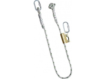 WORK POSITIONING LANYARDS WITH GUIDED TYPE FALL ARRESTERS